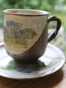 紫陽花コーヒーカップ