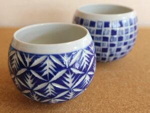 切子風彫り フリーカップ