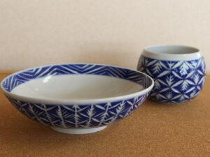 切子風彫り 鉢